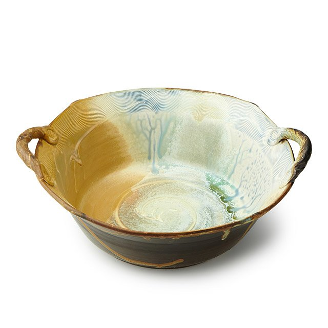 Mother of Pearl Stoneware Serving Dish