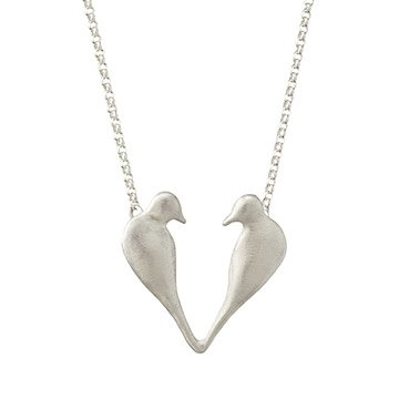 Love Bird Heart Necklace