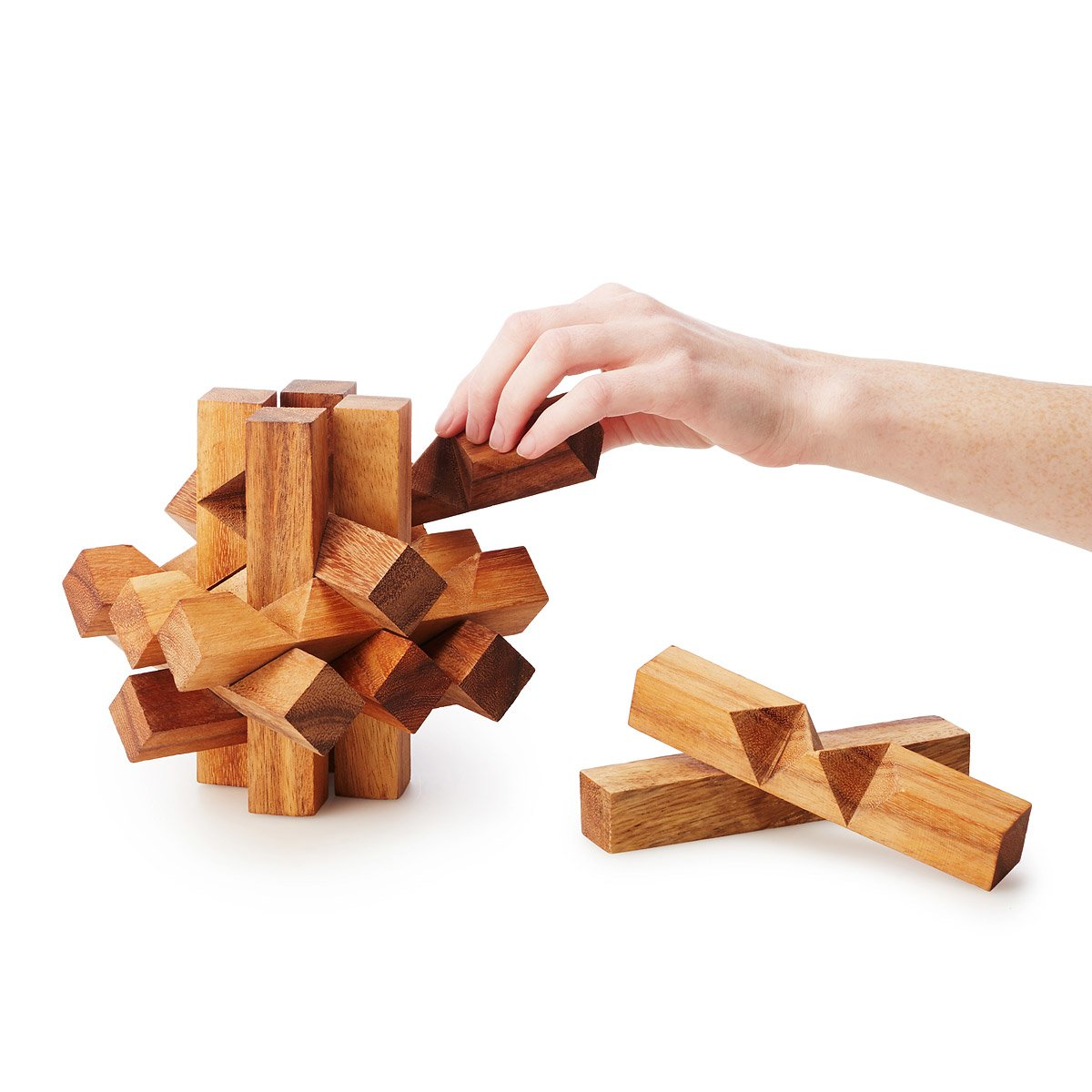 Giant Brain Teaser Puzzle | wooden puzzles | UncommonGoods