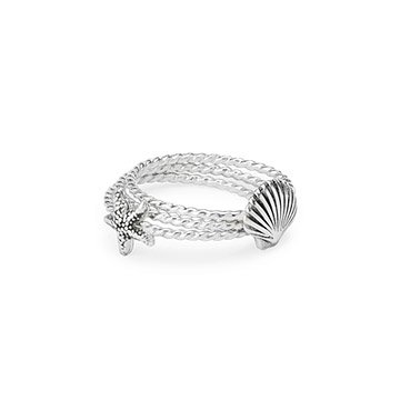 Ocean Stacking Ring Set