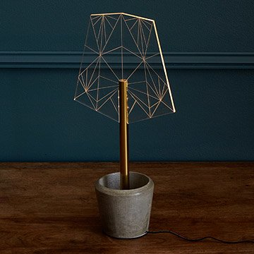 Crystalline Shade LED Lamp