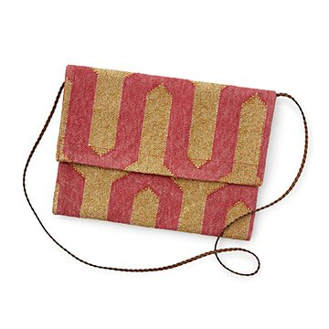 Dhurrie Coral Clutch