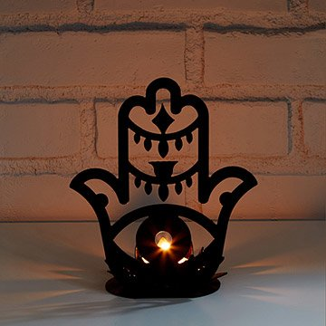 Hamsa Tealight Holder