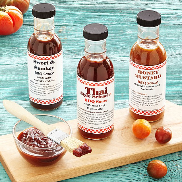 Beer Infused BBQ Sauce - Set of 3