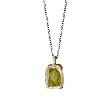 Green Garnet Single Pendant