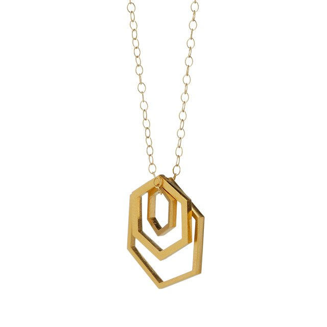 Nesting Hexagon Necklace