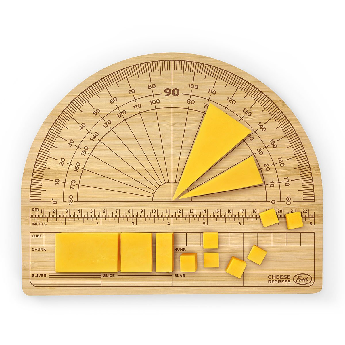 cheese degrees cutting board  bamboo cheese measurements board, Kitchen design