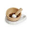 Marble and Beech Wood Mortar and Pestle 2 thumbnail