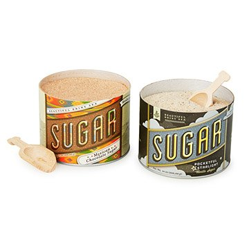 Chocolate & Vanilla Cane Sugar - Set of 2