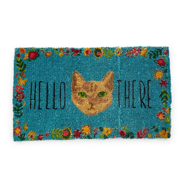 Fur and Flowers Cat Doormat