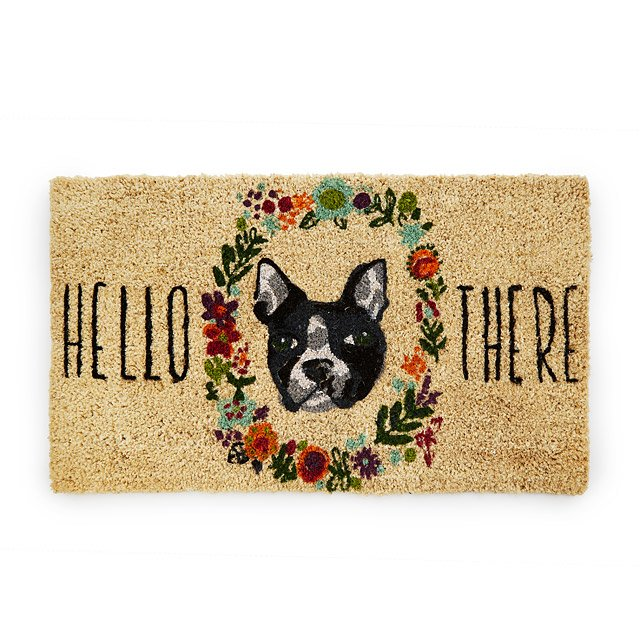 Fur and Flowers Dog Doormat