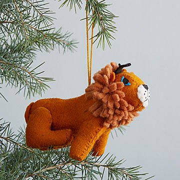Felted Lion Ornament