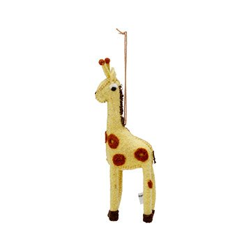 Felted Giraffe Ornament