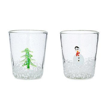 Snowy Day Recycled Glasses - Set of 2