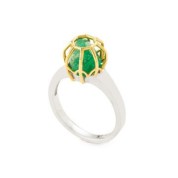 Rough Emerald Stone Ring