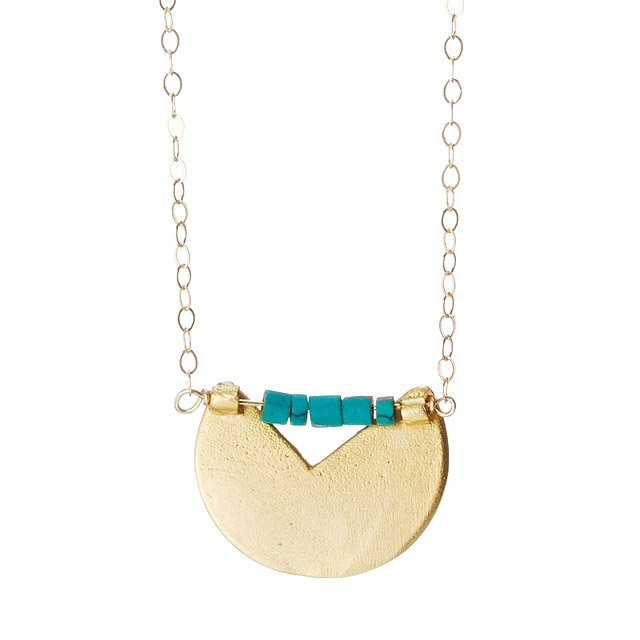 Missing Piece Gold Circle Necklace