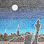 City Skyline Pen & Ink Drawing 4 thumbnail