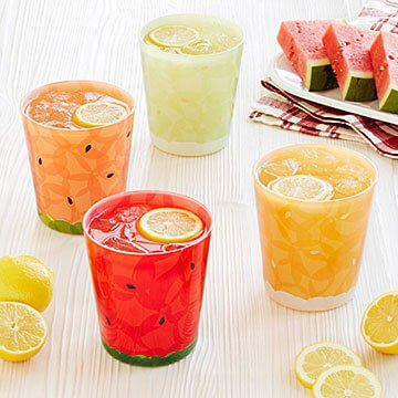 Fruit Slice Glasses - Set of 4