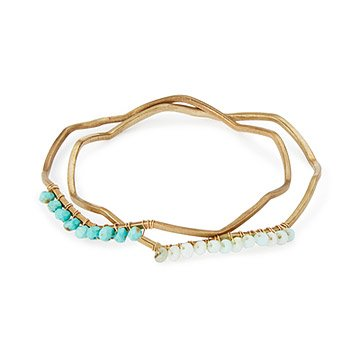 Zig Zag Bangle Bracelets