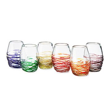 Web Stemless Wine Glass Set