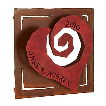 Personalized Heart Wall Sculpture