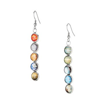 Solar System Mismatched Earrings