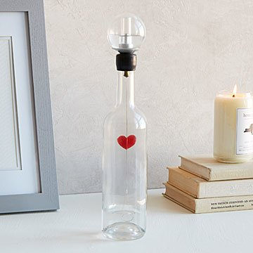 Heart in a Bottle Sculpture