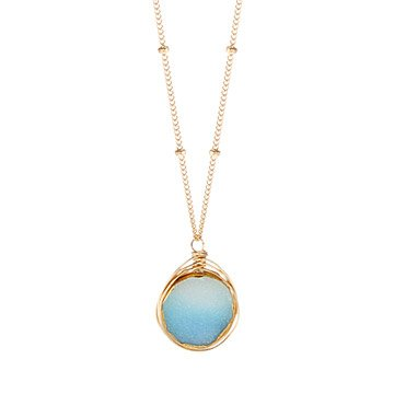 Aqua Druzy Necklace