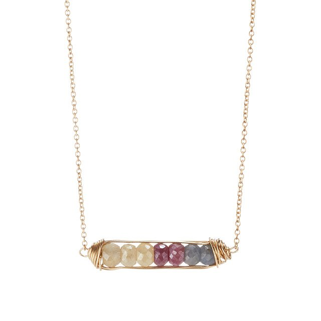 Sapphire And Labradorite Gemstone Necklace