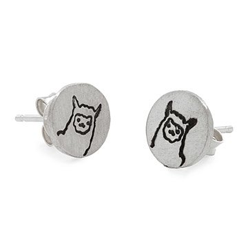 Lucy the Llama Stud Earrings