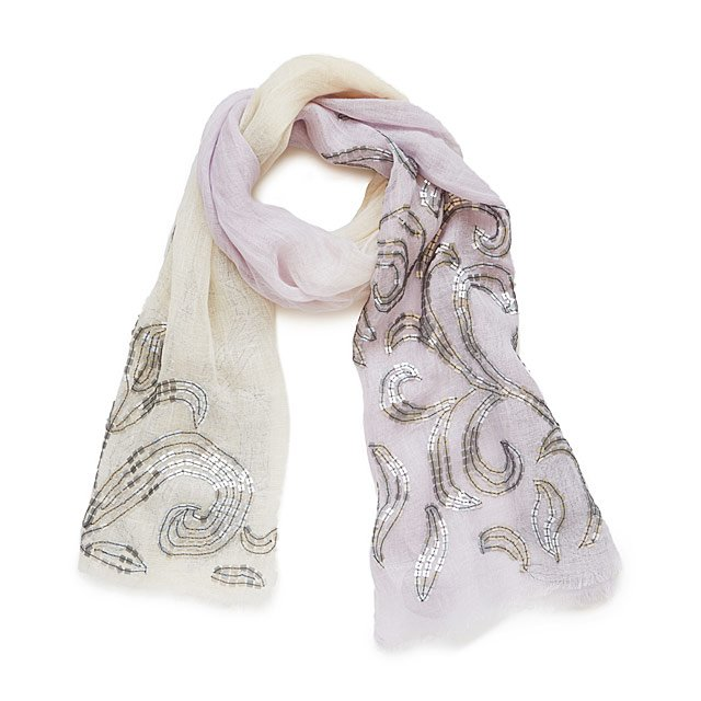 Antique Lilac Ombre Scarf