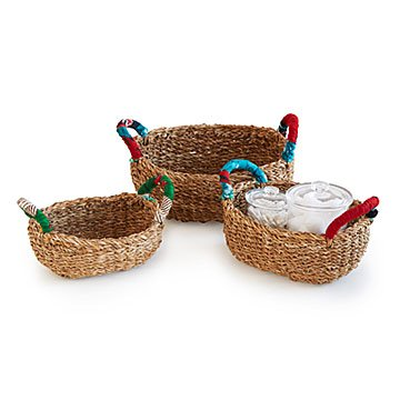 Seagrass Nesting Storage Baskets - Set of 3