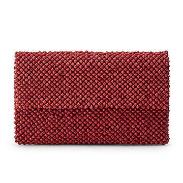 Cranberry Paper Bead Clutch