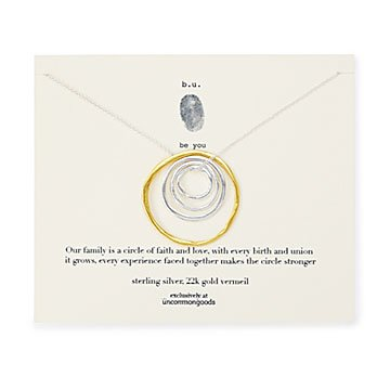 Circle of Life Nesting Rings Necklace