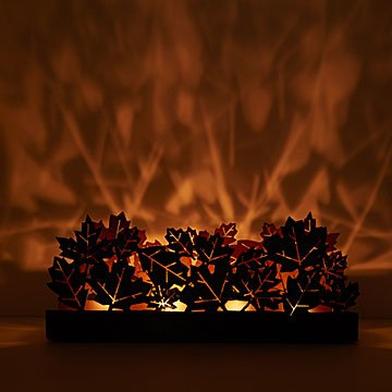 Maple Leaf Tealight Trough