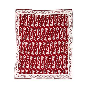 Eartha Kitt's Hand Drawn Heart Throw