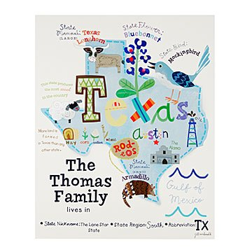 Personalized Family & State Art