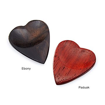 Wooden Heart Guitar Pick