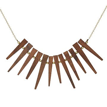 Mid-Century Modern Wood Necklace