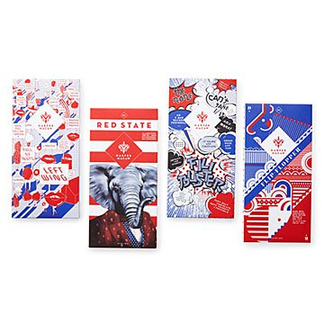 Politically Charged Chocolate Bars - Set of 4