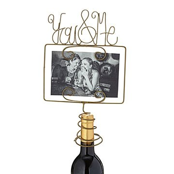 You & Me Photo Frame Wine Topper