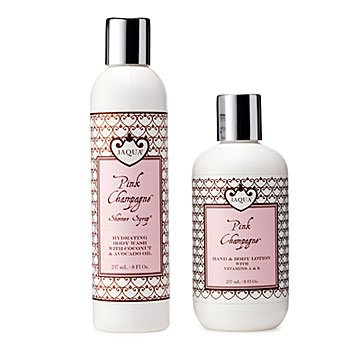 Pink Champagne Shower Gift Set