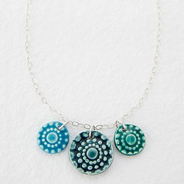 Tri Color Cluster Necklace