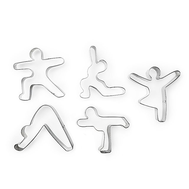 Yoga Pose Food Cutters - Set of 5
