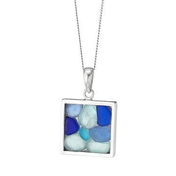 Beautiful Blues Sea Glass Necklace