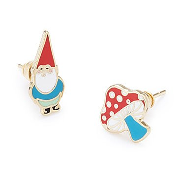 Gnome & Mushroom Mismatched Earrings