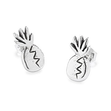 Sterling Silver Pineapple Earrings
