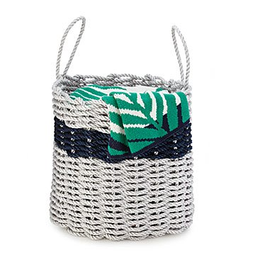 Handwoven Lobster Rope Storage Bin