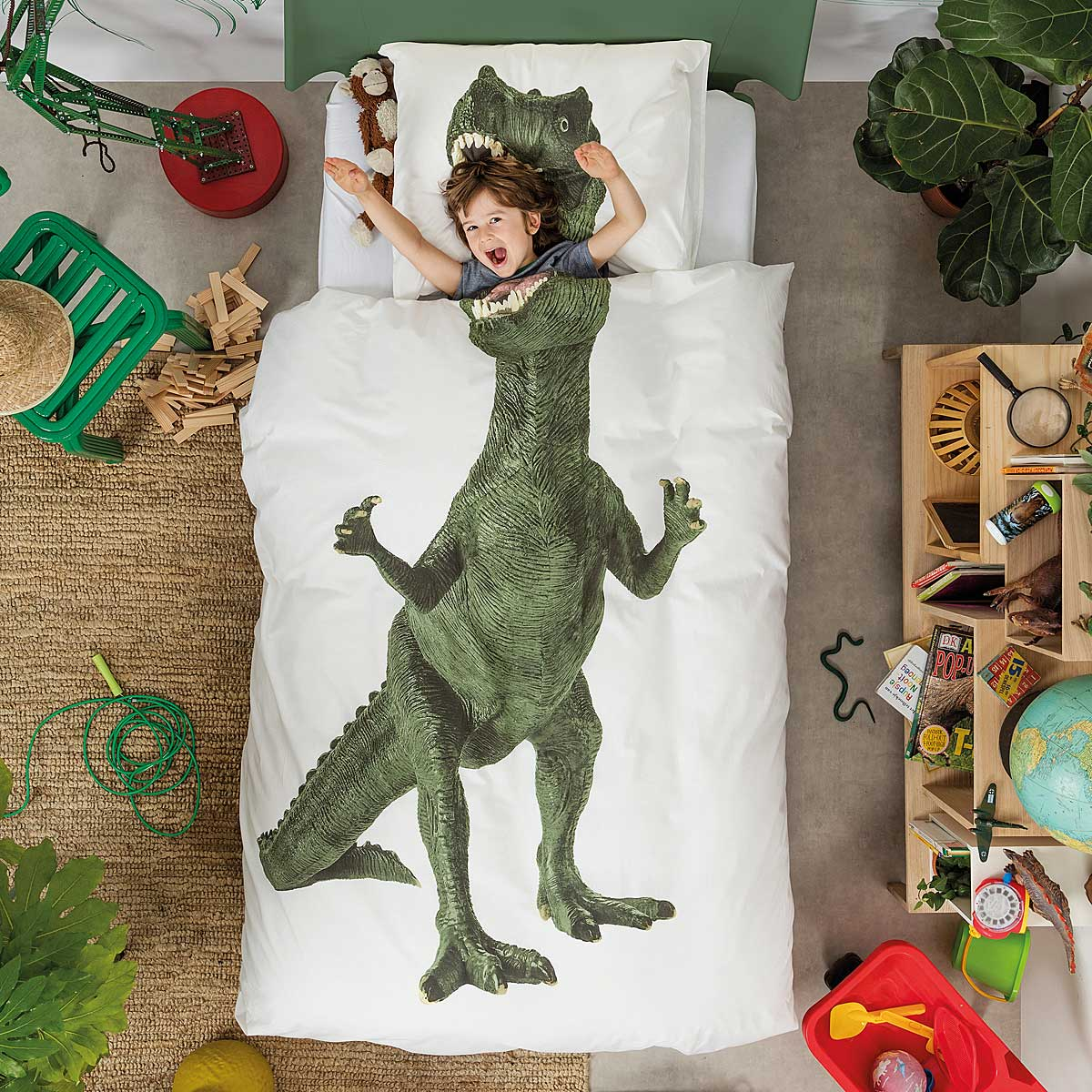 Dinosaur Duvet and Pillowcase Set | t rex costume, kids ...