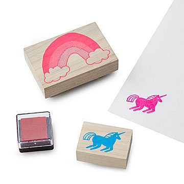 Unicorn & Rainbow Stamp Kit